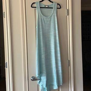 Anthropologie blue jersey maxi dress